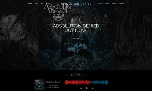 Diseño web musical - Absolution Denied