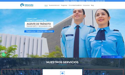 Diseño web corporativo - Intránsito