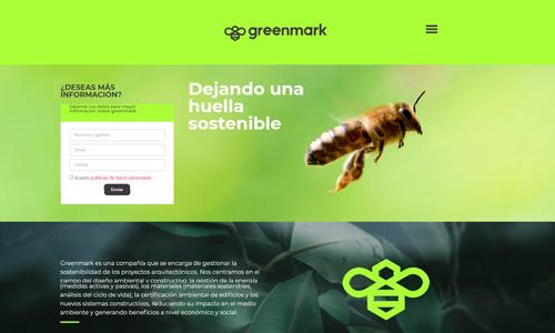Diseño de página de aterrizaje Greenmark