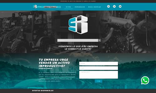Diseño de sitio web portafolio Saldos Industriales