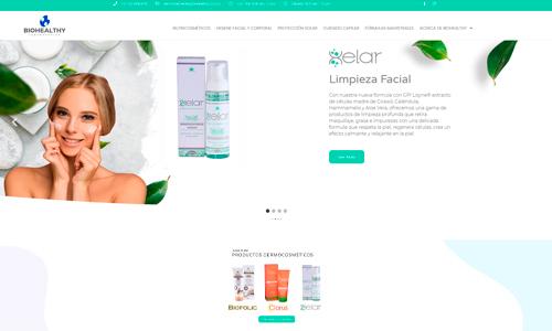 Diseño de página web Biohealthy