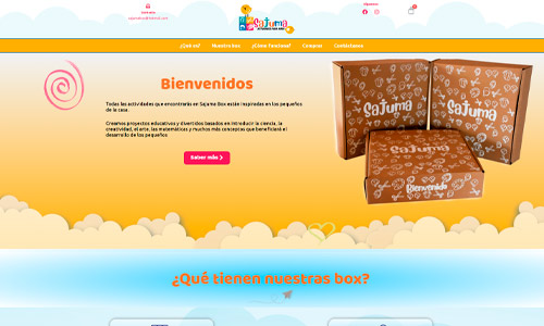 Diseño de tienda Online - Sajuma Box
